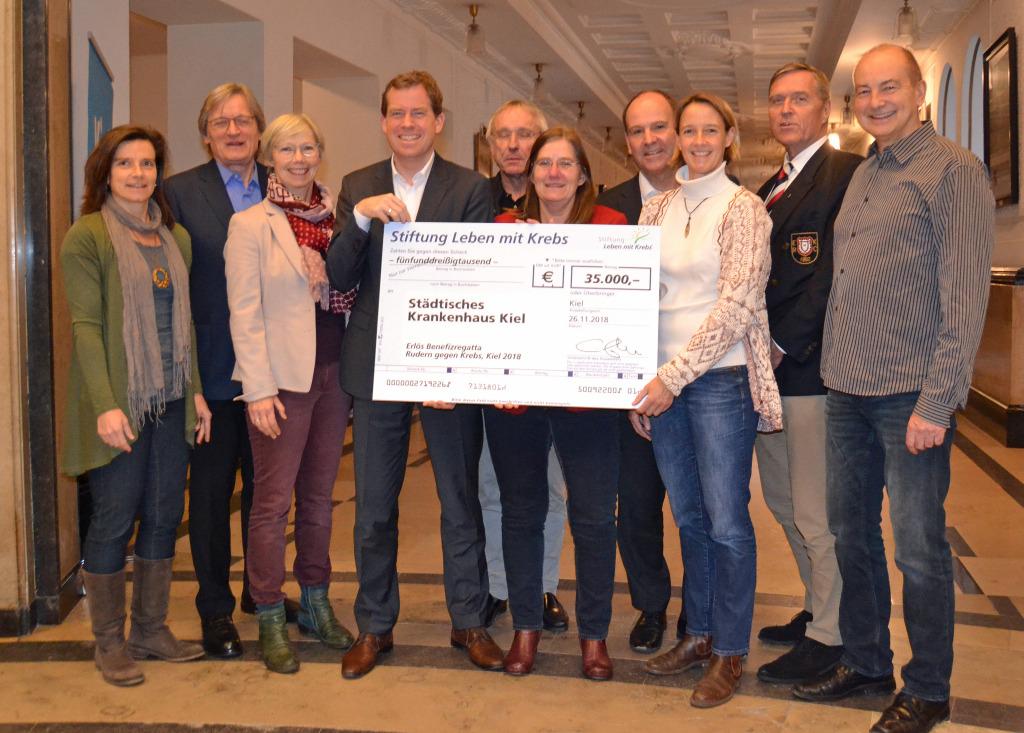 Rudern gegen Krebs brachte 35000 Euro für Sport-Projekt